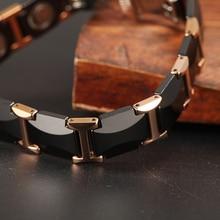 Magnetic Bracelets Health Energy Fashion Black Ceramic Bracelets Bangles Unisex Wristband Luxury Jewelry Friendship Gifts