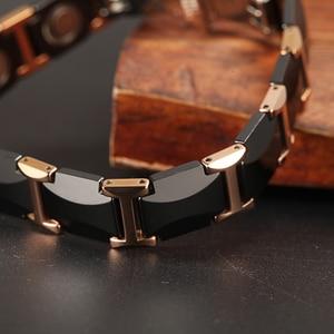 Image 4 - WelMag Manyetik Bilezikler Sağlık Enerji Moda siyah Seramik bilezik bilezik Unisex Bileklik Lüks Takı Dostluk Hediyeler