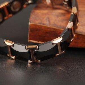 Image 4 - WelMag pulseras magnéticas de cerámica para hombre y mujer, brazaletes de cerámica negra, joyería de lujo, regalos de amistad