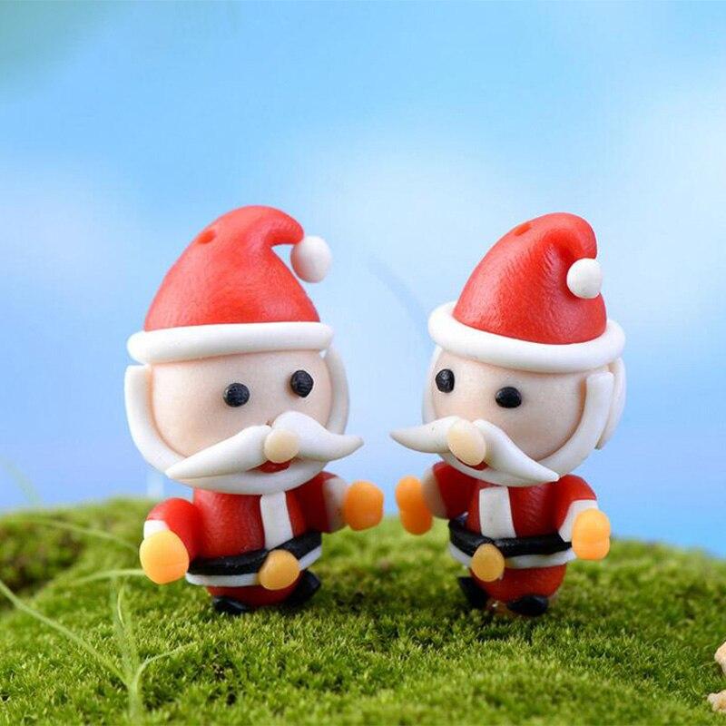 Hug Santa Claus Christmas Decoration Miniature Figurine Fairy Garden  Ornament Statue Love Resin Craft Kids Toy TNA113