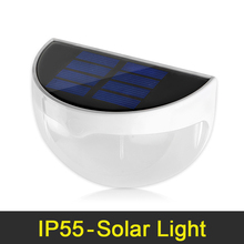 High Bright LED Solar Light Waterproof IP55 6 LED Solar Lamp Outdoor Lighting Wall Lamps With Light Control For Home Decoration