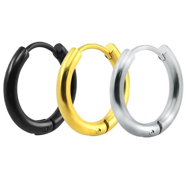 Huggie Hoop Earrings Simple Summer Style Circle Women Man Round Por Earring Jewelry 10mm