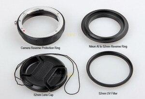 Image 2 - Macro Camera Lens Reverse Adapter Bescherming Set Voor Nikon D80 D90 D3300 D3400 D5100 D5200 D5300 D5500 D7000 D7100 D7200 d5 D610