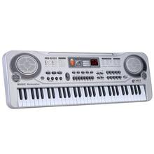 """61 клавиши, электронная клавиатура, фортепиано, светодиодный, музыкальная игрушка с микрофоном 2"""", образовательный, электронный, рождественский подарок для детей, штепсельная вилка европейского стандарта"""