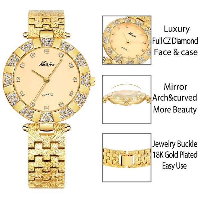 7f2d54845de placeholder MISSFOX Women Watches Luxury Brand Fashion Casual Ladies Watch  Women Quartz Diamond Geneva Lady Bracelet Wrist