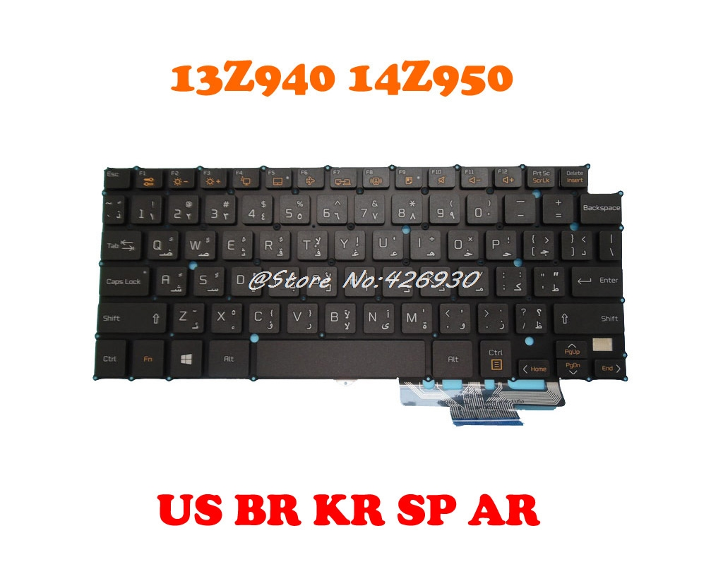 AR SP Keyboard For LG 13Z940 14Z950 HMB8130ELA01 AEW73489812 English US HMB8130ELB13 AEW73489801 AEW73489811 HMB8130ELA13 Korea