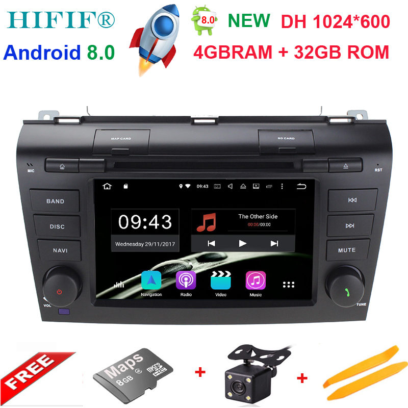 4G RAM WIFI 1024*600 Octa Core Android 8.0 Fit For <font><b>MAZDA3</b></font> 2004 2005 2006 <font><b>2007</b></font> 2008 2009 Car DVD Player Navigation GPS Radio RDS image