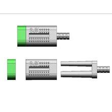 O pino gêmeo dobro do uso do laboratório dental de 1000 grupos com luvas plásticas e tampões de borracha no trabalho modelo de pedra com índice