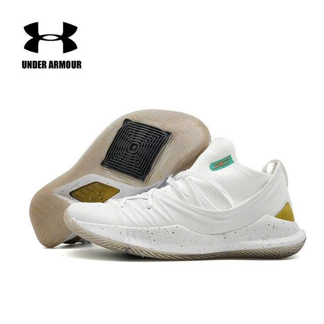 Hot Sale Under Armour AU Curry 5 Pria Sepatu Zapatos Hombre Ringan Olahraga Basket Sneakers Pria Luar Ruangan Desain Bantalan Sepatu