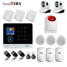SmartYIBA 3G GPRS Wireless Home Alarm System Kit Smoke/Fire Alarm Kits+Wireless Strobe Siren+WIFI Security Surveillance Camera