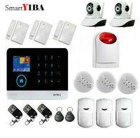 Smartyiba 3G GPRS Беспроводной сигнализации дома Системы комплект дым/пожарной сигнализации Наборы + Беспроводной Строб Сирена + WI FI безопасности к