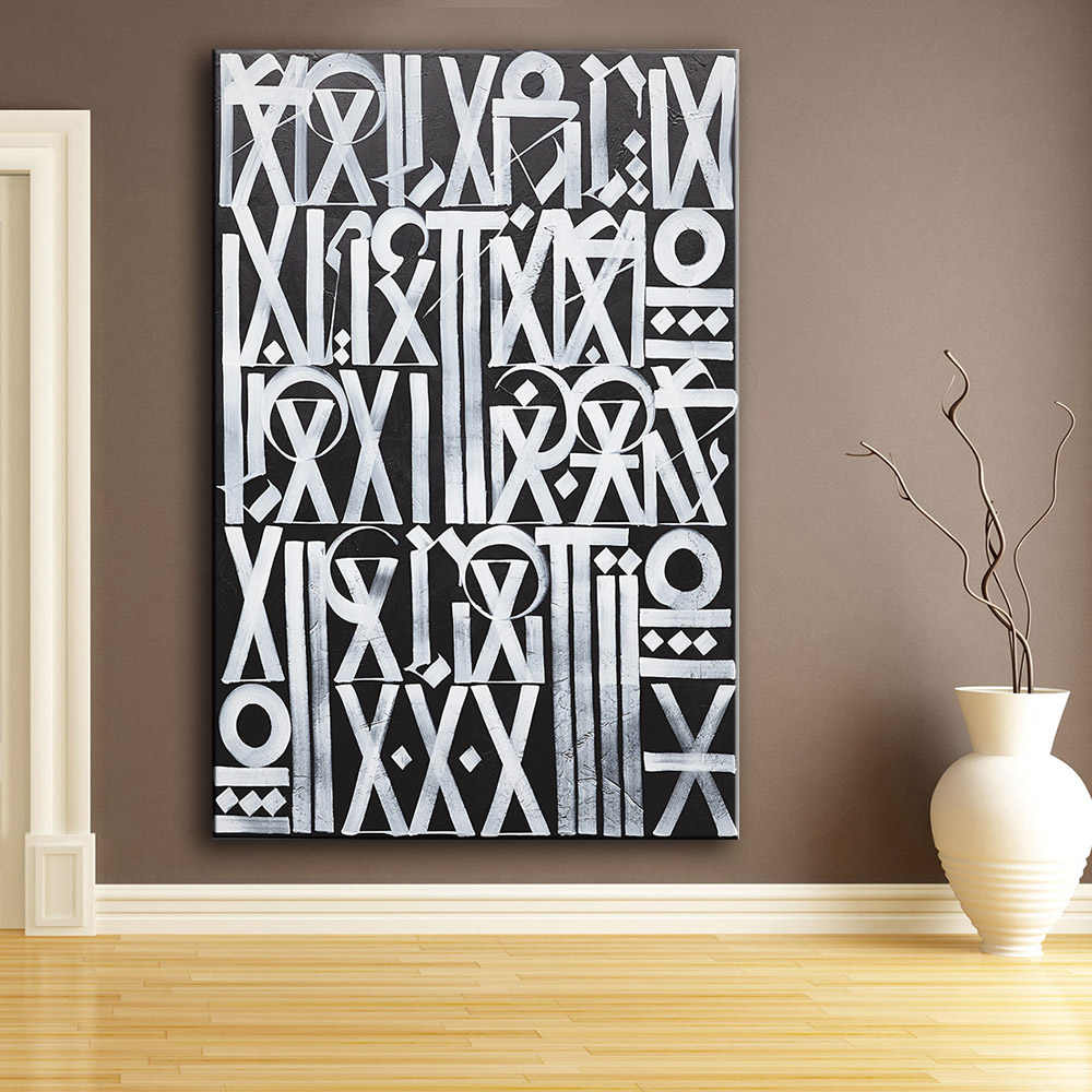 Oil painting Wall Art, Wall Decor, Wall Painting RETNA Untitled III Nice Painting for wall picture no frame Posters and Prints