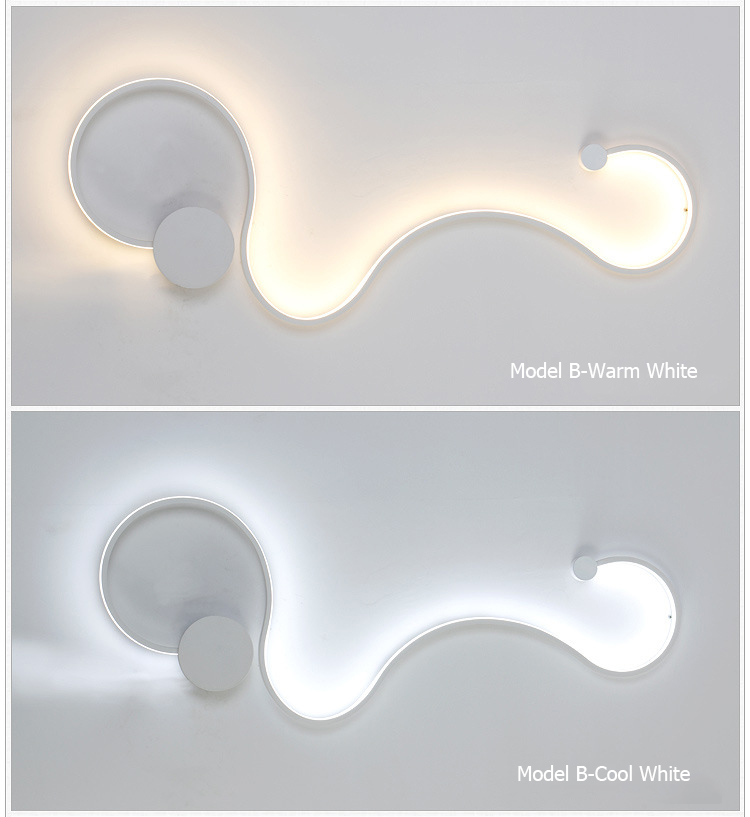 HTB1hSVfVNnaK1RjSZFtq6zC2VXaU - Sconce/led wall lights dimmable/bedroom/bedside wall lamps modern/black/white wall lamps for home/living room/foyer aluminum
