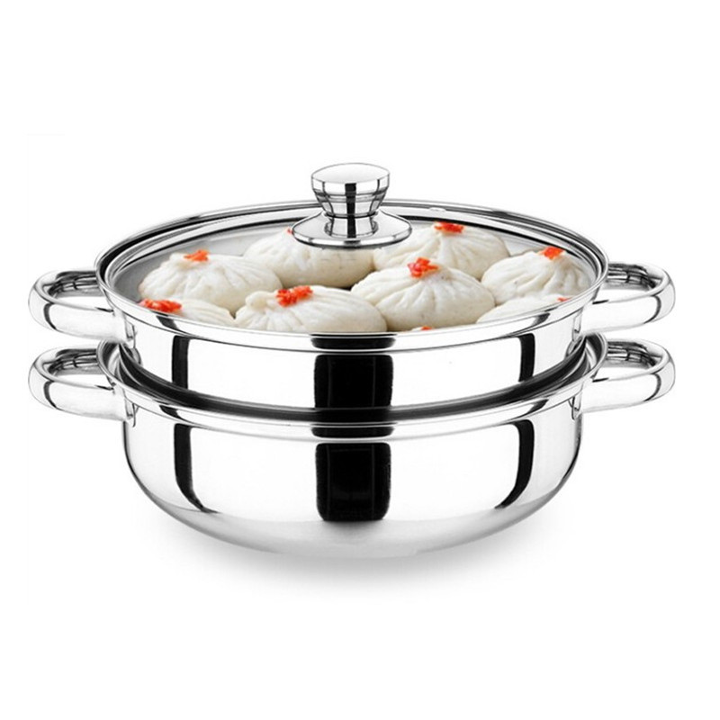 Universal Stove Stainless Steel Double Soup Pot Steaming Pot Of Dual use Multifunction Steamer Pot Ears