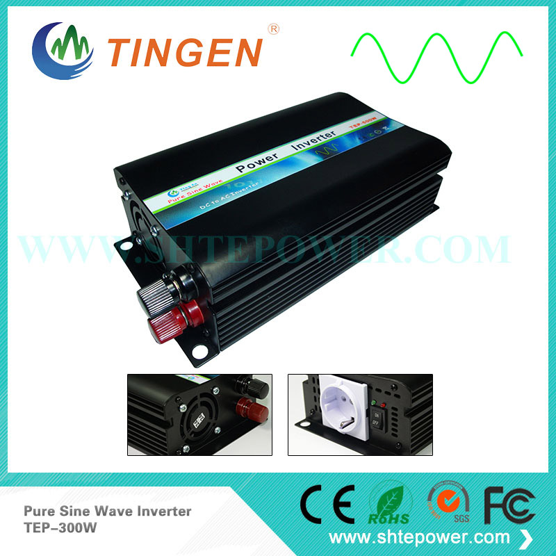TEP-300W 12V/24V/48V DC input 300W power inverter convert DC input to AC output 110V/220V Pure Sine wave off grid tie system