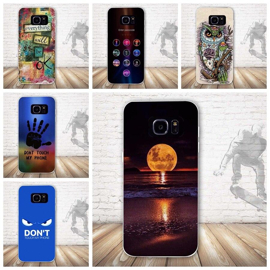 Чехол для телефона samsung Galaxy S7 край Силиконовая задняя крышка для samsung S7 край роскошные мягкие ТПУ для S7edge 3D кожного покрова сумки