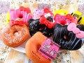 20 шт. 10 см Оригинальной Упаковке Hello Kitty Редкие Squishy Джамбо Пончик Сотовый Телефон Ремешок Брелок Милые Squishies Оптовые Пищевой булочки
