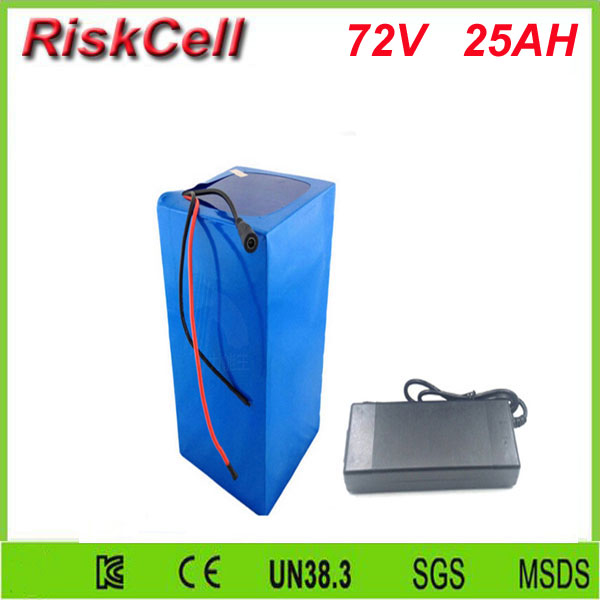 Free Customs taxes lithium  battery 72v 25ah 26650 li-ion battery pack 72v 25ah 3500w rechargeable lithium ion battery with BMS free customs taxes high quality skyy 48 volt li ion battery pack with charger and bms for 48v 15ah lithium battery pack