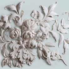 3D Embossed Beautiful European Peony Flower