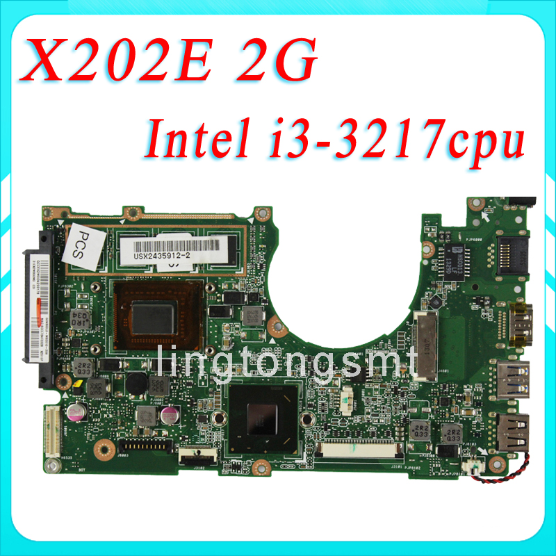 For ASUS VivoBook X202E Motherboard rev2.0 Processor i3-3217 2G Memory X201E S200E X202E main board 100% Test футболка мужская dan jieshi 2015