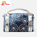 Diseñador de bolsos de las mujeres de moda de verano decoración diamante oxford bolsas de asas casual ladies purse bolsa de playa