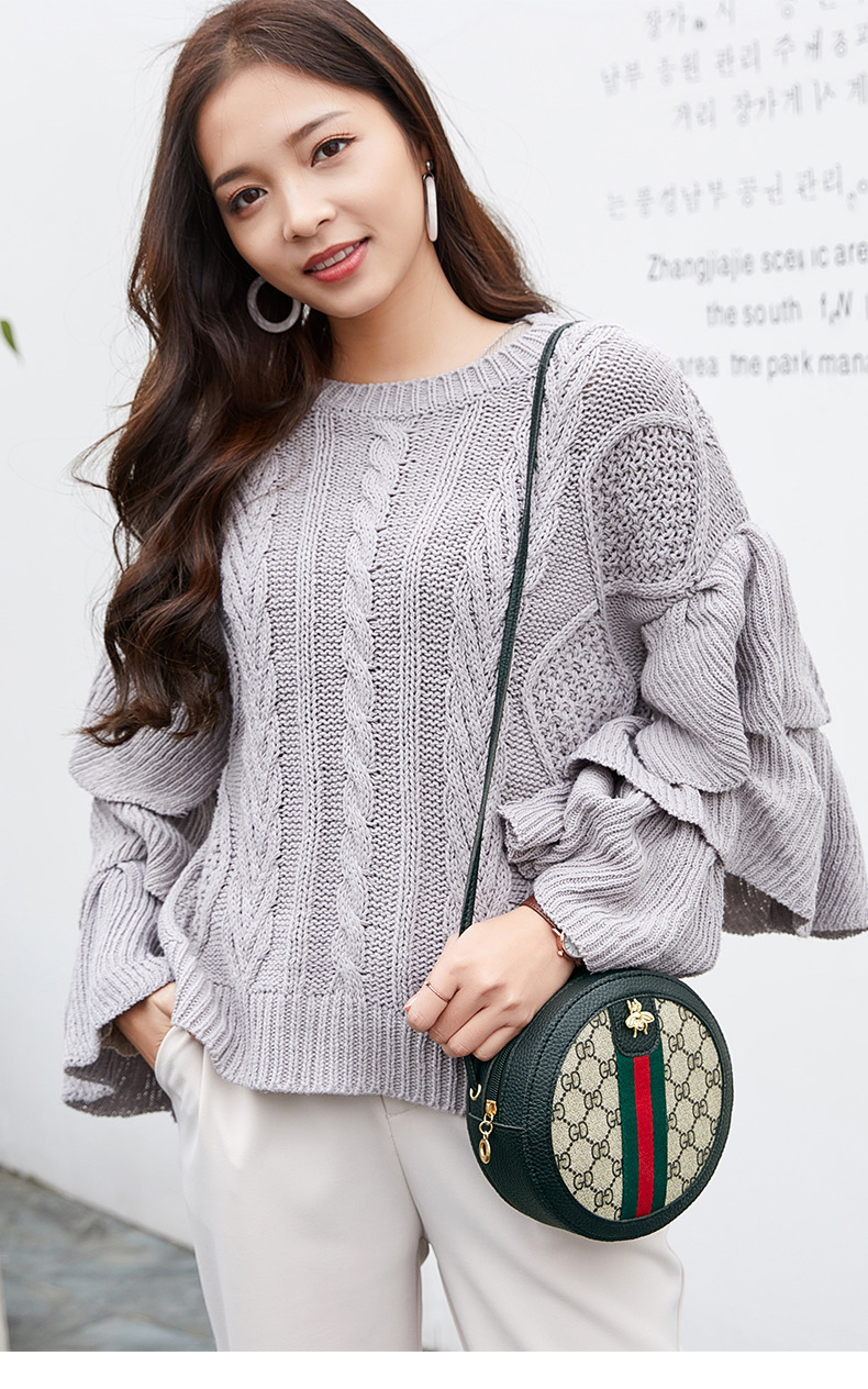 2019 New Women Design Letter PU Leather Small Mini Shoulder Bags Crossbody Bags for ladies Round