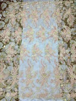 Luxury 3D decals plus pearls African lace Nigeria crafts French embroidery lace, high-quality products wedding dress fabrics