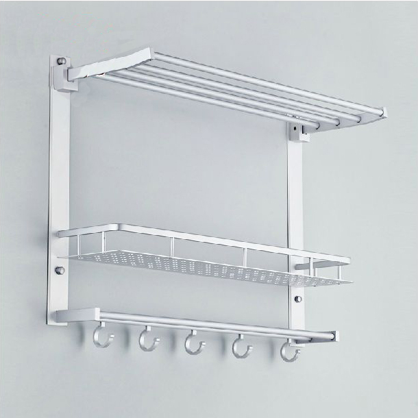 Bathroom Shelves Metal Chrome Movable Shower Shelf Bath Rack With ...