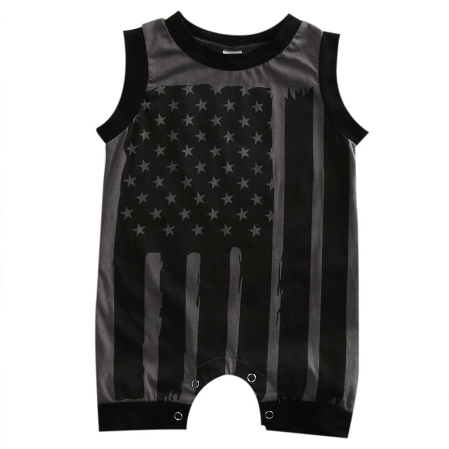 2017 New Baby Romper Newborn Infant Baby Boy Girl 4th Of July Stars and Stripes Romper Clothes Outfit J6222 2017 newborn baby boy girl clothes floral infant bebes romper bodysuit and bloomers bottom 2pcs outfit bebek giyim clothing