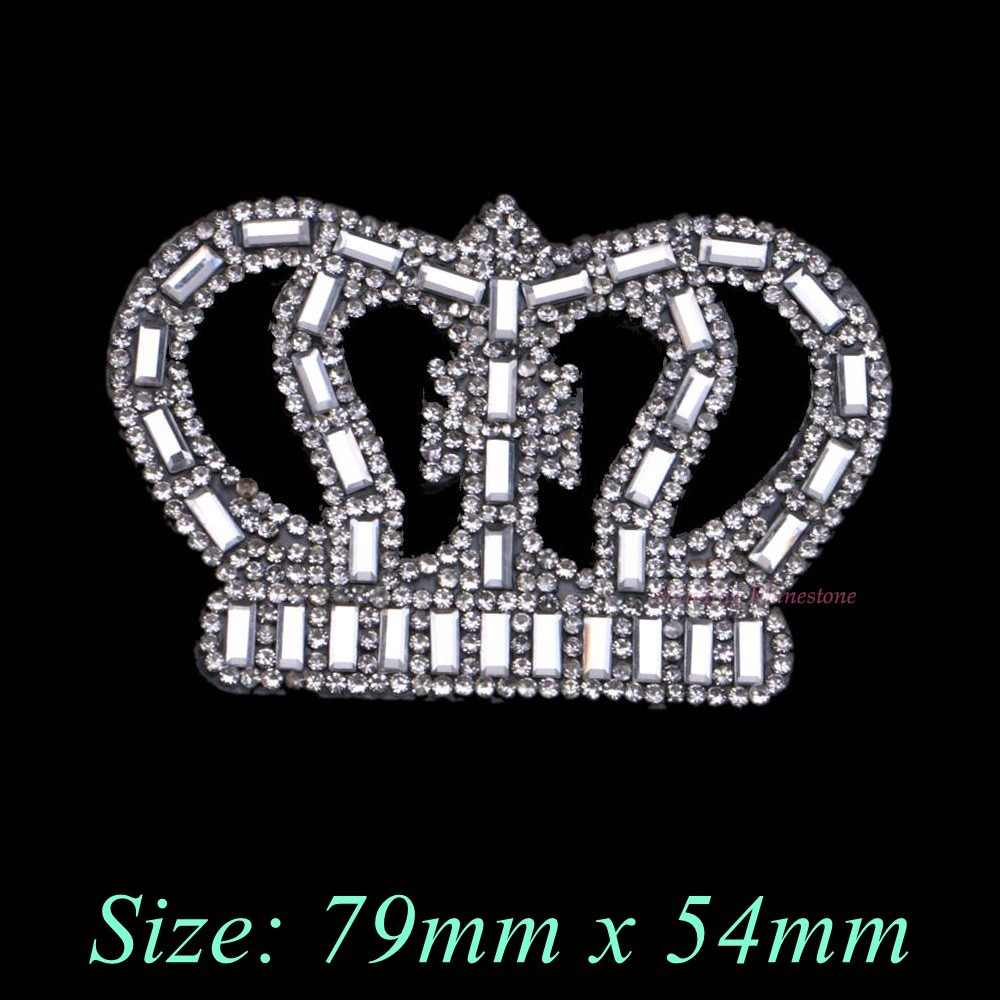 Detail Feedback Questions about 1PC Crown Rectangle Beads Iron On Hotfix  Rhinestones Patches Motif Women Crystal Glass Hot fix Bride Wedding Dress  Clothes ... d5ba1006a69c