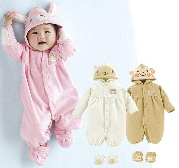 buy baby romper fleece winter warm clothing new 2016 newborn baby overall baby. Black Bedroom Furniture Sets. Home Design Ideas