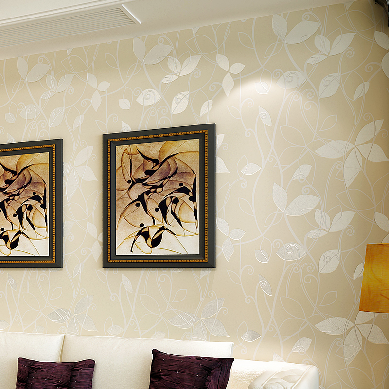 High Quality 3D Modern Flower Embossed Non Woven Wallpaper Wall Paper Roll For Living Room Bedroom Wedding Room