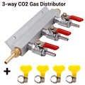 Colector de Gas de elaboración de cerveza de 3 vías distribuidor de CO2 separador de colector de cerveza válvulas de retención integradas herramienta de fabricación de cerveza casera