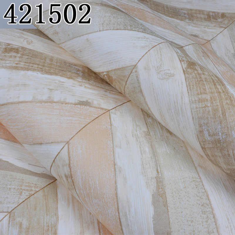 Средиземноморский стиль, деревянная настенная бумага в рулоне, бежевая, синяя полосатая настенная бумага, винтажный нетканый бумажный Декор на стену для спальни