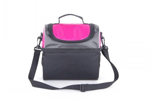 Cute fashion thermal bag 2-layers food storage cooler bag pink  yellow kids picnic bag food can food lunch bag
