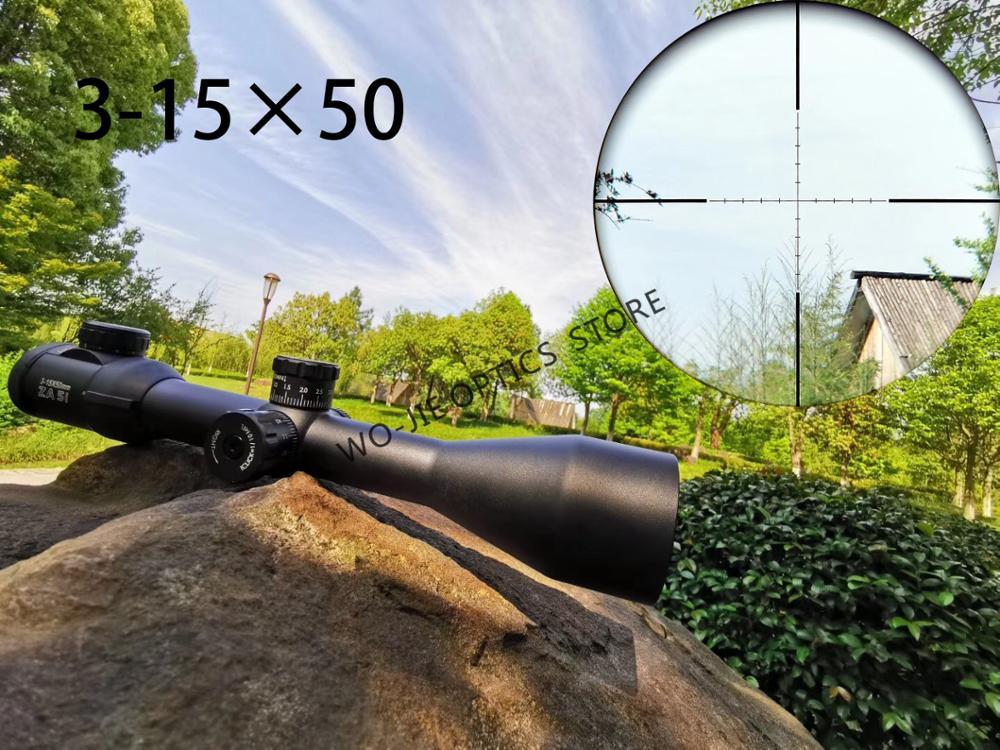 Hunting Optic 3-15X50 Long Range Riflescope Side Wheel Parallax Optic Sight Rifle Scope Hunting Scopes Sniper Luneta Para Rifle