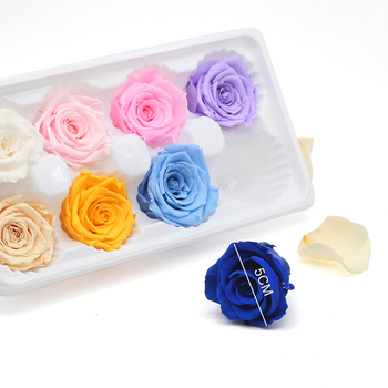 High Quality Multicolor Preserved Rose Box 4-5CM Immortal Eternal Rose Dried Flowers Mother Day Present Furnishing Decoration 1
