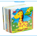 9piece/set New Wooden Kids Jigsaw Puzzles Toys With Animals/Fruit Pattern For Children Education And Learning
