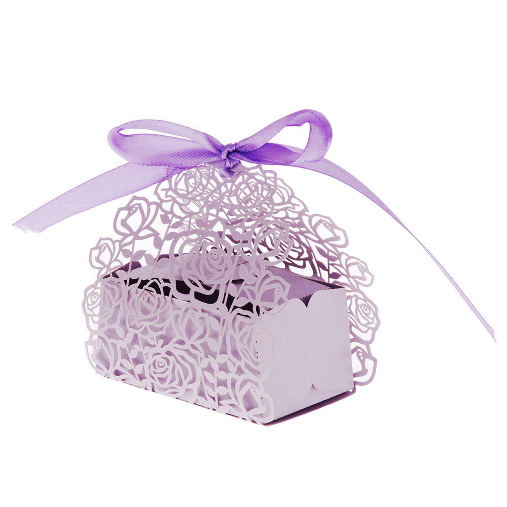 12pcs/set Romantic Wedding favors Decor Butterfly DIY Candy Cookie Gift Boxes Wedding Party Candy Box with Ribbon White/Pink-in Gift Bags & Wrapping ...