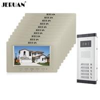 Jeruan оптовая продажа Фирменная Новинка дома, домофон Системы 10 мониторов проводной 7