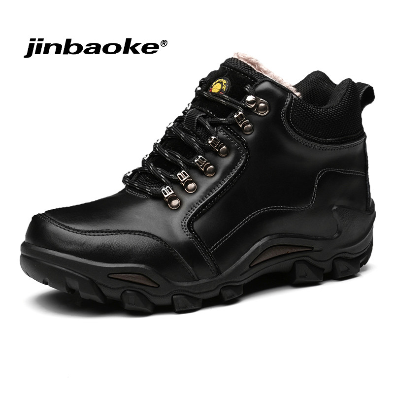 High Quality Men Hiking Shoes Waterproof Leather Shoes Antiskid Tourism Climbing Hunting Sneaker Outdoor Trekking Sports Shoes цена 2017