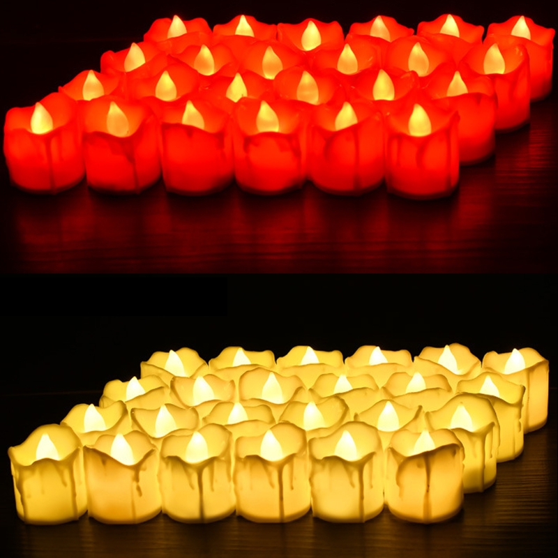 Plastic Battery Powered LED Candle Light Flameless Tealight Festival Wedding Decor L15
