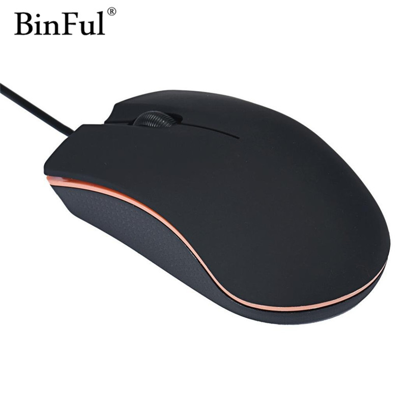 BinFul Beautiful Gift New Optical USB 2.0 LED Wired Game Mouse Mice For PC Laptop Computer
