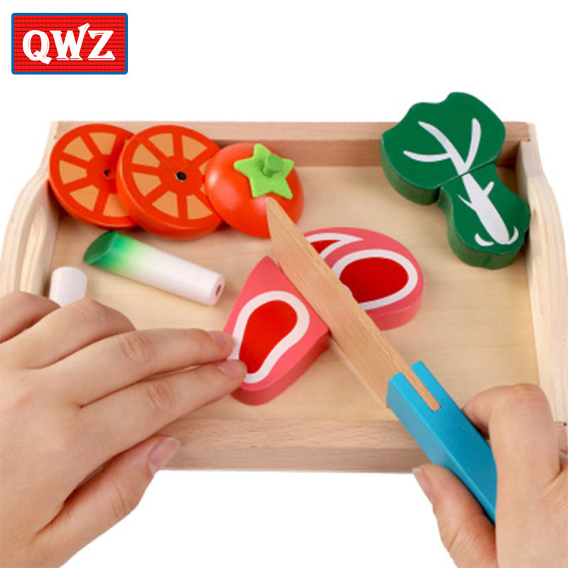 Childrens wooden tray magnetic cut fruit toys fruit and vegetables cut play house play,Childrens gifts educational toys ...