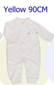 Комбинезоны для маленьких мальчиков и девочек, коллекция года, Одежда для новорожденных и малышей, детский хлопковый комбинезон с длинными рукавами, Красивый хлопковый комбинезон унисекс - Цвет: 90CM YELLOW
