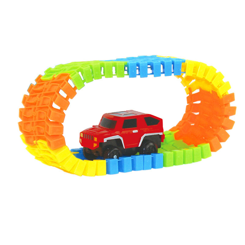VICIVIYA-Miracle-Glowing-toy-Racing-Track-Set-Flexible-Track-Led-Car-Toy-For-Adult-100165220240pcs-Race-Track-1pc-LED-Car-5