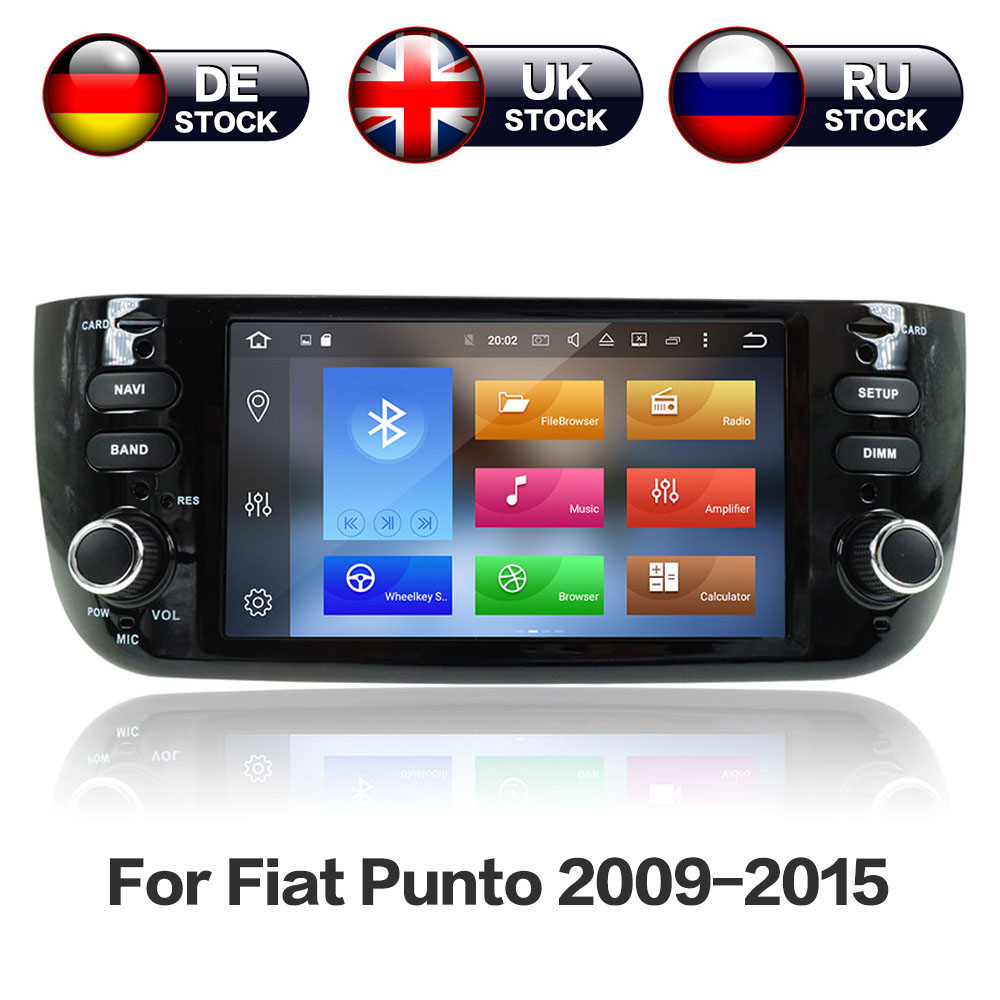 Android8 4GB+32GB 8 Core Car GPS Navigation No DVD Player Radio Stereo For Fiat Punto 2009 2015 for Linea 2011 2015 Auto Video