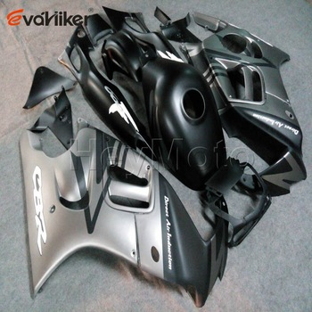 Custom motorcycle cowl for CBR600F3 1997-1998 CBR600 F3 97 98 ABS Plastic motorcycle fairing order+silvergray