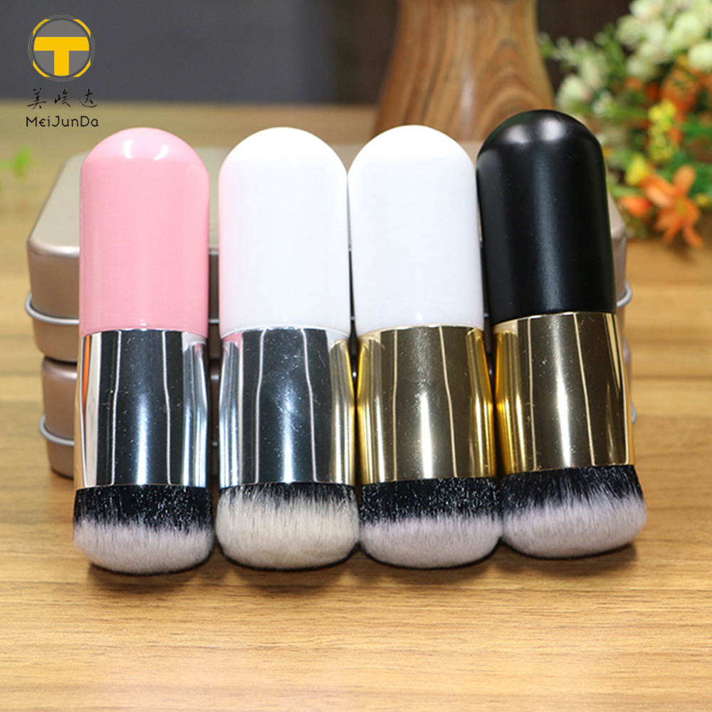 Chubby pier foundation brush brush single brush round flat feather powder  explosion models hot