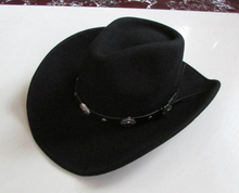 New 100% Woolen Cap Mens Waterproof Wrinkle free Equestrian Hat Adult Wide Brim Cowboy Hat Large brimmed Gentleman Cap B 8133